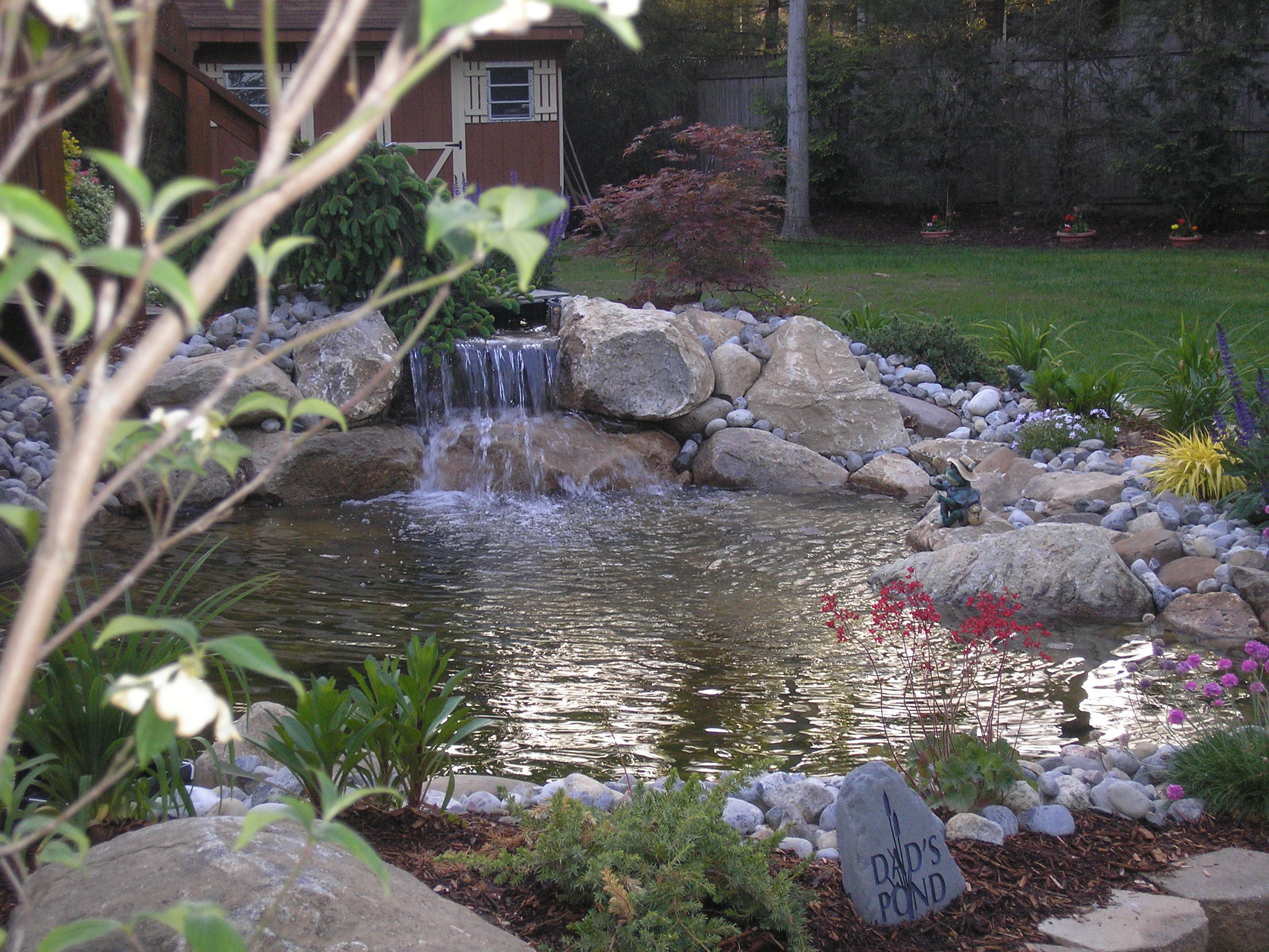 Pictures of ponds and waterfalls voyeur rooms for Koi pond builders mn