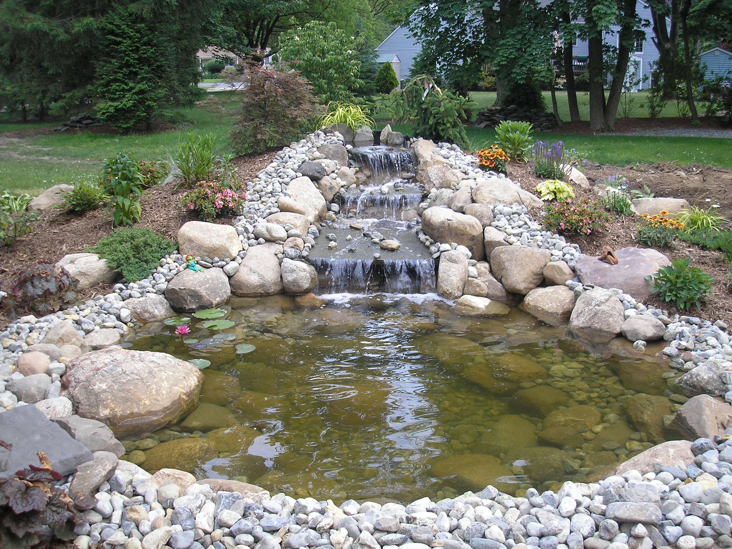 Pictures Of Fish Ponds With Waterfalls Images